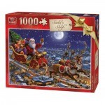 Puzzle  King-Puzzle-05768 Christmas Santa Sleigh