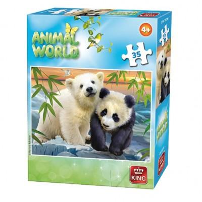 Puzzle  King-Puzzle-05774-F Animal World