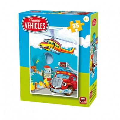 Puzzle  King-Puzzle-05775-F Funny Vehicles