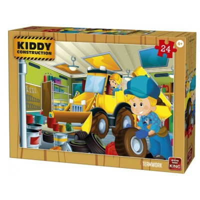 Puzzle  King-Puzzle-55835 Kiddy Construction - Teamwork