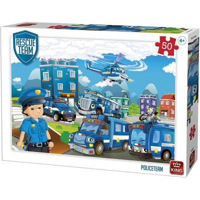Puzzle King-Puzzle-55840 Rescue Team - Police Team