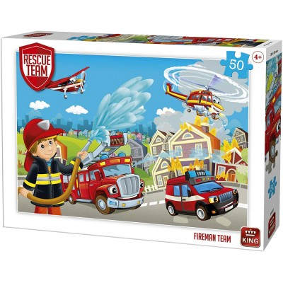 Puzzle  King-Puzzle-55841 Rescue Team - Fireman Team