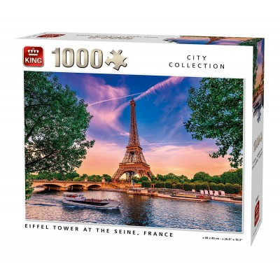 Puzzle  King-Puzzle-55851 Eiffel Tower at The Seine