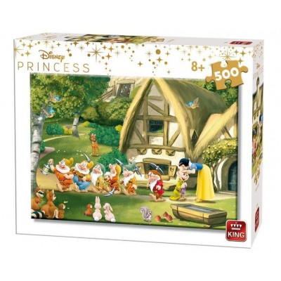 Puzzle King-Puzzle-55916 Disney Princess - Schneewittchen und die sieben Zwerge