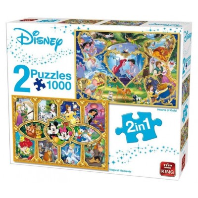 King-Puzzle-55920 2 Puzzles - Disney 2 in 1