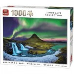 Puzzle  King-Puzzle-55938 Northern Lights, Kirkjufell, Iceland
