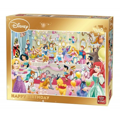 Puzzle King-Puzzle-85523 Disney - Happy Birthday