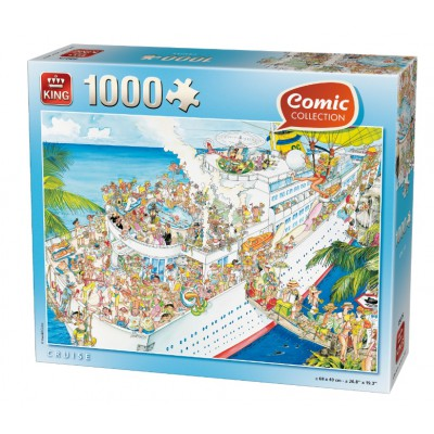 Puzzle  King-Puzzle-K05075 Comic Collection - Kreuzfahrt
