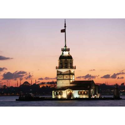 Puzzle  KS-Games-11099 Türkei, Istanbul: Leanderturm im Morgenrot
