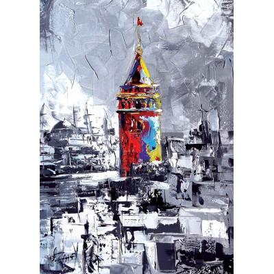 Puzzle  KS-Games-11284 Ali Eminoglu - Türkei, Istanbul: Galataturm