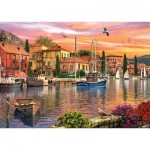 Puzzle  KS-Games-11308 Dominic Davison: Sonnenuntergang am Hafen