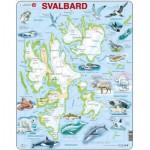 Larsen-A1-NO Rahmenpuzzle - Svalbard, Norwegen