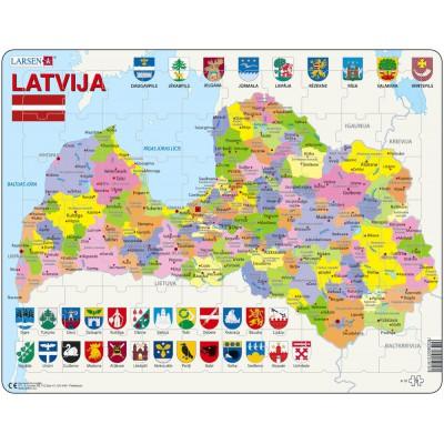 Larsen-A10-LE Rahmenpuzzle - Lettland