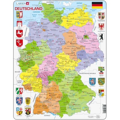 Larsen-A11-DE Rahmenpuzzle - Deutschland
