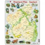 Larsen-A2-DE Rahmenpuzzle - Reinland-Pfalz/ Saarland