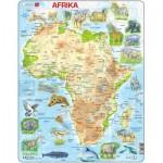Larsen-A22-DE Rahmenpuzzle - Afrika und seine Tiere