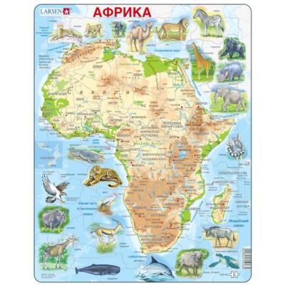 Larsen-A22-RU Rahmenpuzzle - Afrika (auf Russisch)