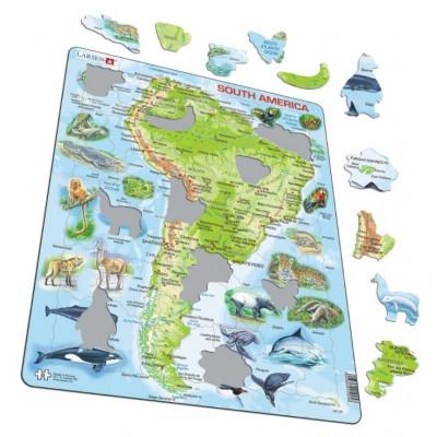 Larsen-A25-ES Rahmenpuzzle - Südamerika (auf Spanisch)