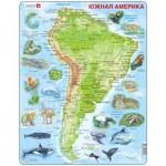Larsen-A25-RU Rahmenpuzzle - Südamerika (auf Russisch)