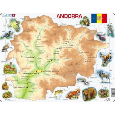 Larsen-A26-CT Rahmenpuzzle - Katalonien (auf Katalanisch)