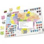 Larsen-A3-LT Rahmenpuzzle - Karte von Litauen (auf Litauisch)