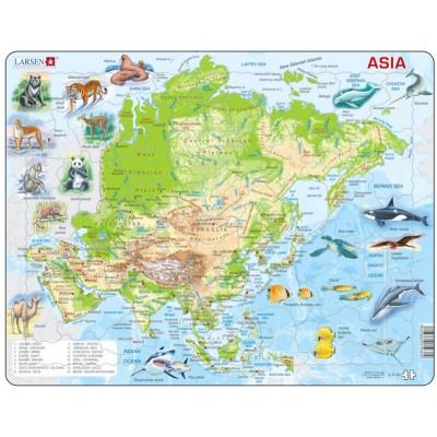 Larsen-A30-GB Rahmenpuzzle - Asien (auf Englisch)