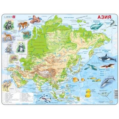 Larsen-A30-RU Rahmenpuzzle - Asien (auf Russisch)