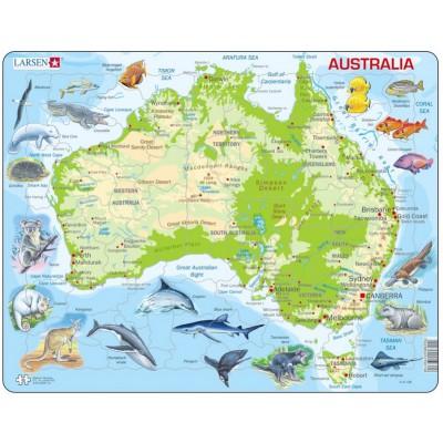 Larsen-A31-GB Rahmenpuzzle - Australien (auf Englisch)