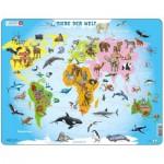 Larsen-A34-DE Rahmenpuzzle - Tiere der Welt