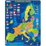 Larsen-A39-GB Rahmenpuzzle - European Union (auf Englisch)