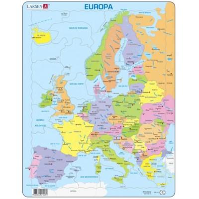 Larsen-A8-ES Rahmenpuzzle - Europa (auf Spanisch)