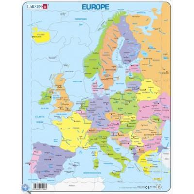 Larsen-A8-GB Rahmenpuzzle - Europa (auf Englisch)