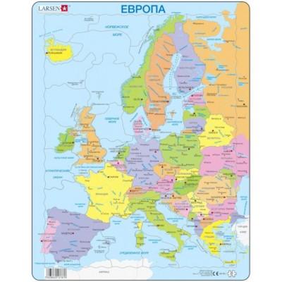 Larsen-A8-RU Rahmenpuzzle - Europa (auf Russisch)
