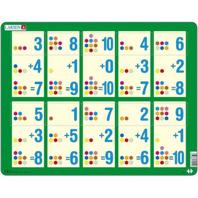 Larsen-AR12 Rahmenpuzzle - Mathematik: Addition von 1 bis 10