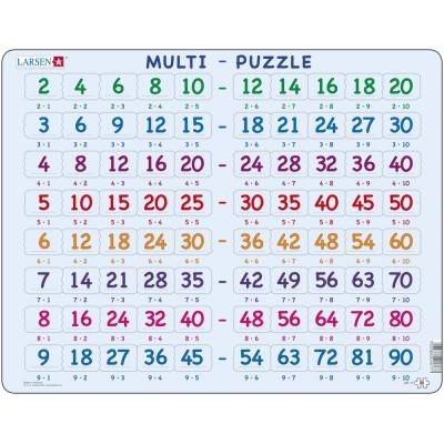 Larsen-AR17 Rahmenpuzzle - Mathematik: Multiplikationstabellen