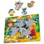 Larsen-BM5 Rahmenpuzzle - Tiere auf dem Bauernhof