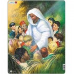 Larsen-C5 Rahmenpuzzle - Jesus mit den Kindern