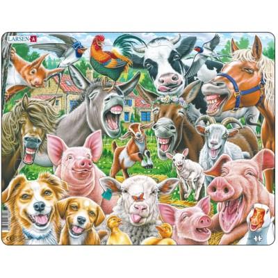 Larsen-CZ1 Rahmenpuzzle - Happy Farm Selfie