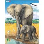 Larsen-D8 Rahmenpuzzle - Elefanten
