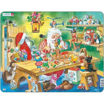 Larsen-EA2 Rahmenpuzzle - Die Werkstatt des Weihnachtsmannes