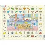 Larsen-EN1-GB Rahmenpuzzle - Learning English 1: In der Küche