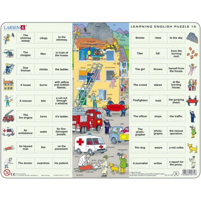 Larsen-EN10-GB Rahmenpuzzle - Learning English 10: Helfer in der Not
