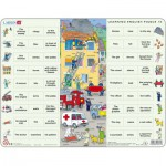 Larsen-EN10 Rahmenpuzzle - Learning English 10: Helfer in der Not