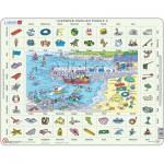 Larsen-EN3-GB Rahmenpuzzle - Learning English 3: An der Küste