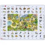 Larsen-EN5-GB Rahmenpuzzle - Learning English 5: Tiere