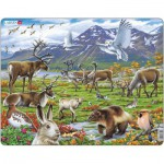 Larsen-FH14 Rahmenpuzzle - Die Tiere Lapplands