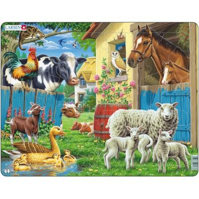 Larsen-FH23 Rahmenpuzzle - Bauernhoftiere