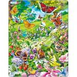 Larsen-FH28 Rahmenpuzzle - Schmetterlinge