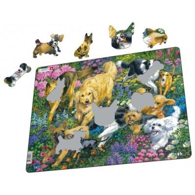 Larsen-FH33 Rahmenpuzzle - Hunde