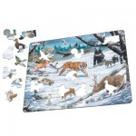 Larsen-FH34 Rahmenpuzzle - Tierwelt